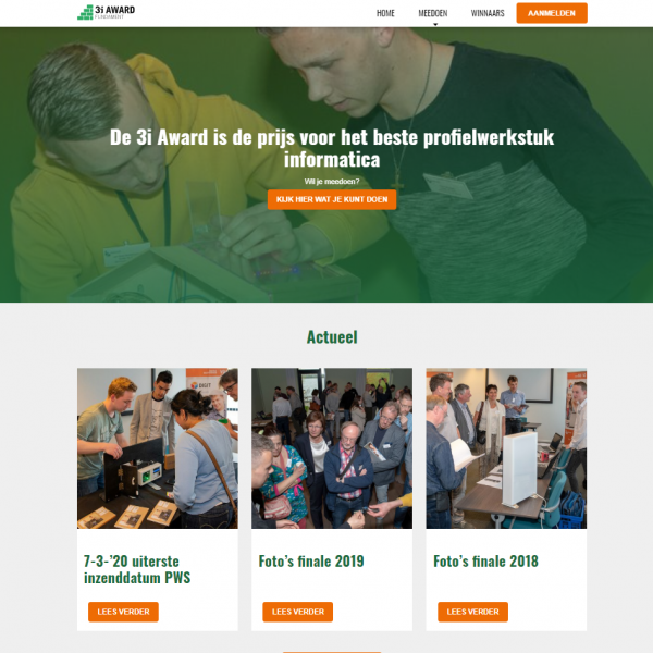 nieuwe 3i-Award website
